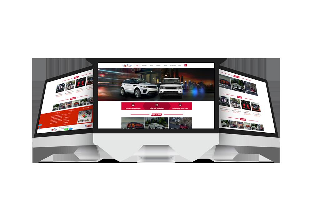 Thiết kế mẫu website ô tô